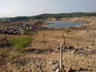 Com 2,4% de água Açude que abastece Nova Palmeira, Frei Martinho e Picuí está em situação critica