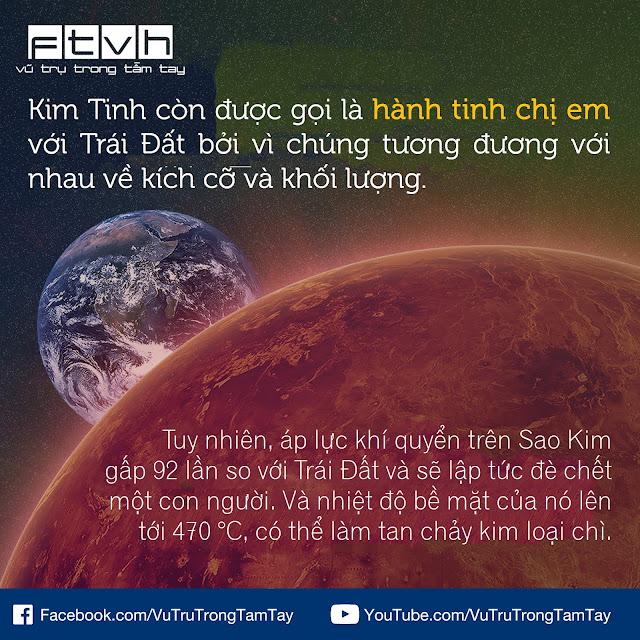[Ftvh] Sao Kim là hành tinh chị em với Trái Đất.