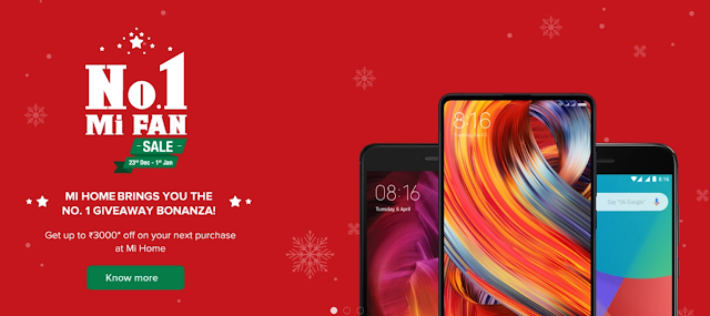 Xiaomi Mi Home No.1 Mi Fan Sale offers discounts on Mi Mix 2, Mi A1, Redmi Note 4 and much more