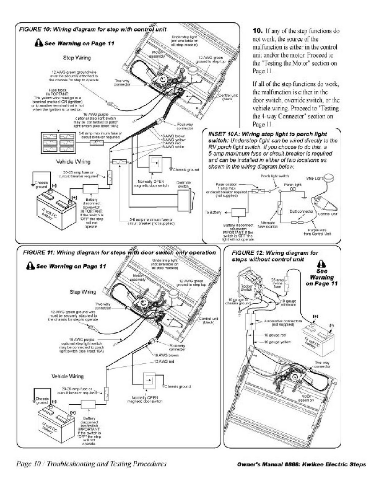 Kwikee Wiring Diagram Great Design Of Fleetwood Rv Schematics 1983 Pace Arrow Owners Manuals Electric Step Control Unit Series
