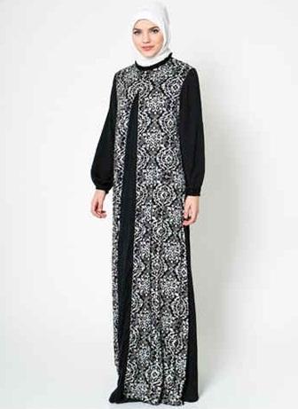 20+ Model Gamis Batik Kombinasi Terbaru 2017