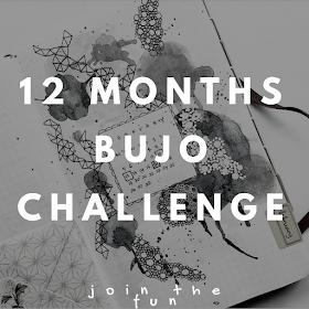 12 Months Bullet Journal challenge by ewafebri.com