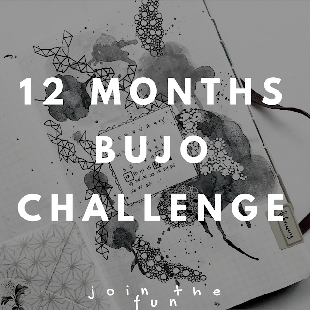 12 Months Bullet Journal challenge by ewafebri.com