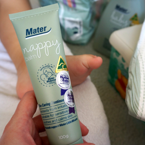 mater nappy balm skin care product | away from the blue