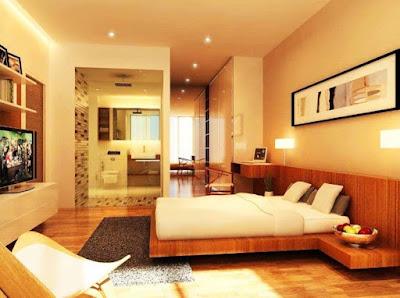 warna cat kamar tidur romantis terbaru