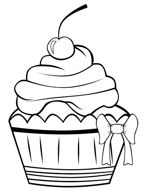Cupcake Coloring Pages Free Printable Cupcake Coloring Pages For Kids Free Coloring  Pages For Kids