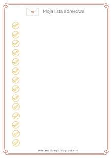 lista adresów do druku
