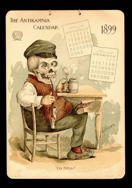 Красивый старинный календарь