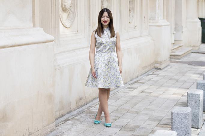 rochie gri argintiu
