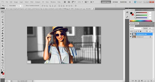 cara memberi efek di photoshop