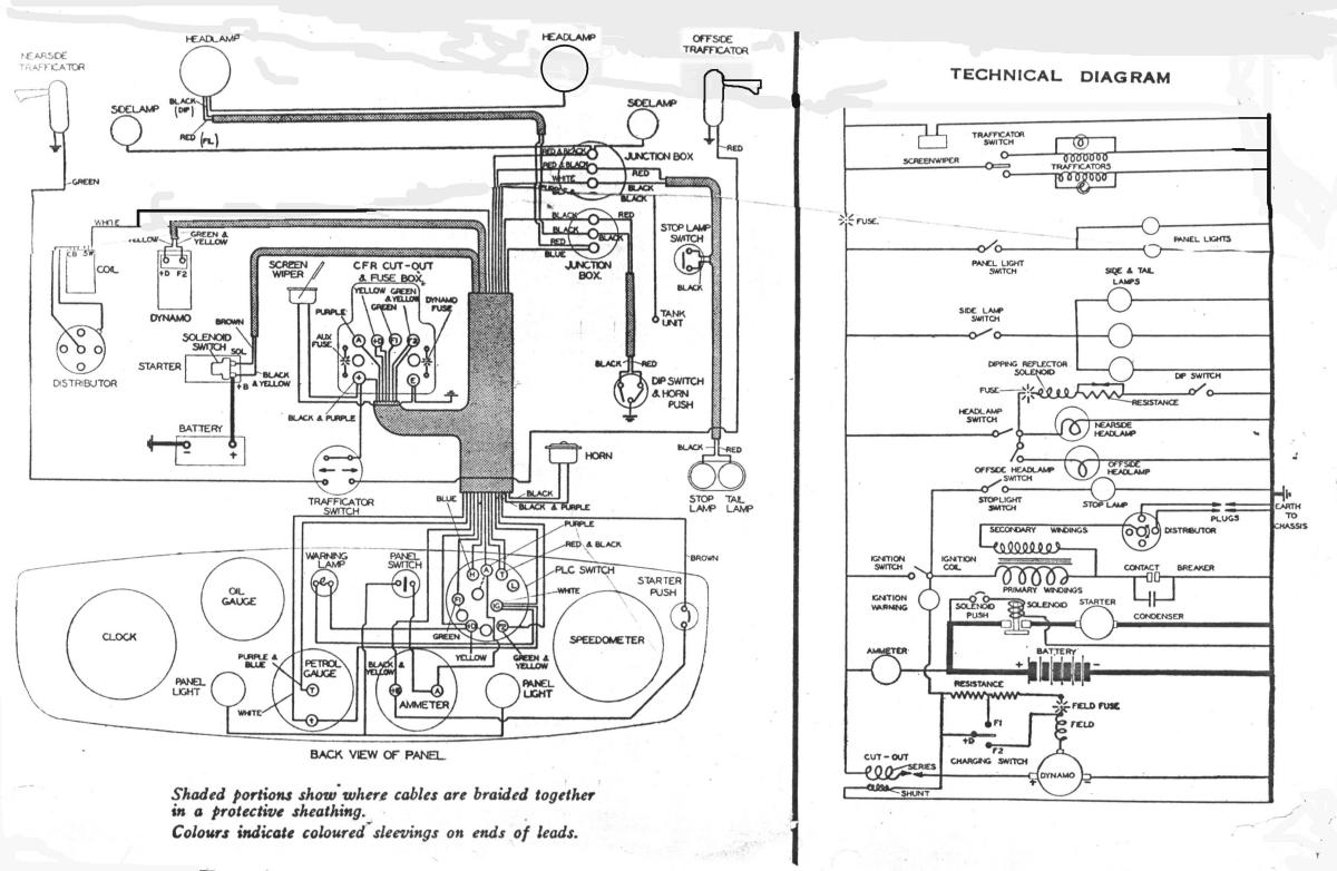 Electrical Wiring Diagrams For Cars Lighting Contactor Diagram Free Auto Austin 10