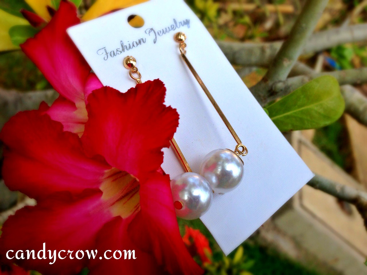 March Fab Bag Review pearl earring