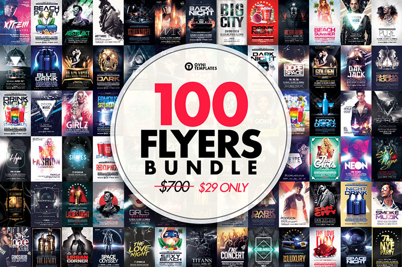 100 MASSIVE Flyer Bundle 94%OFF