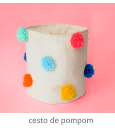 para organizar as pequenas coisas: um cesto cheio de pompom! | espanta-papão