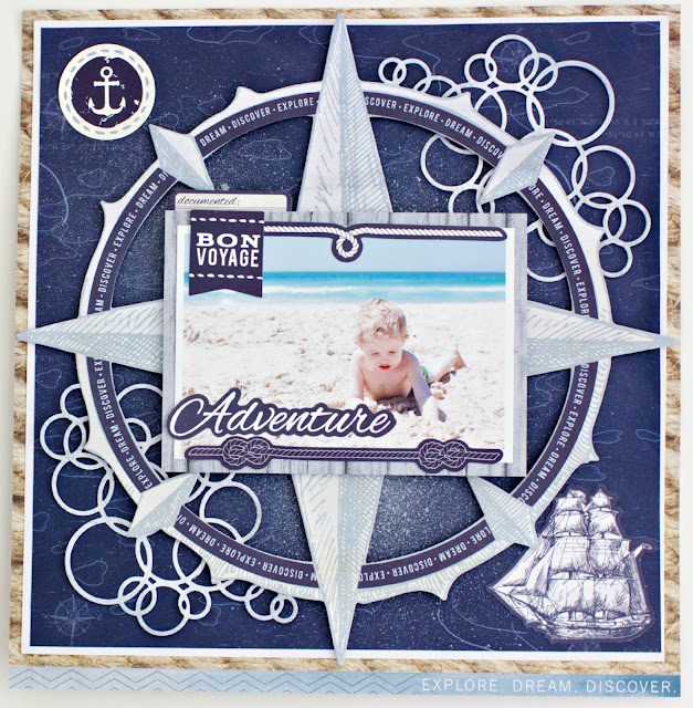 "Kaisercraft ""Sail Away"" Layout by Alicia McNamara"
