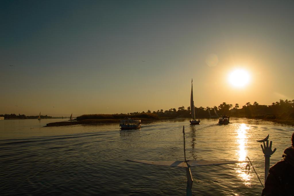 Закат на Ниле фото