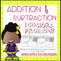 https://www.teacherspayteachers.com/Product/Word-Problems-Addition-and-Subtraction-NO-PREP-Printables-1722883