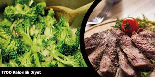 1700 Kalorilik Diyet