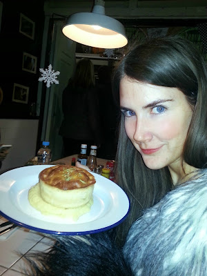 Customer with pie at Pieminister