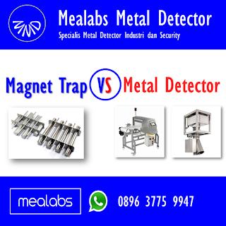 Magnet trap atau metal detector
