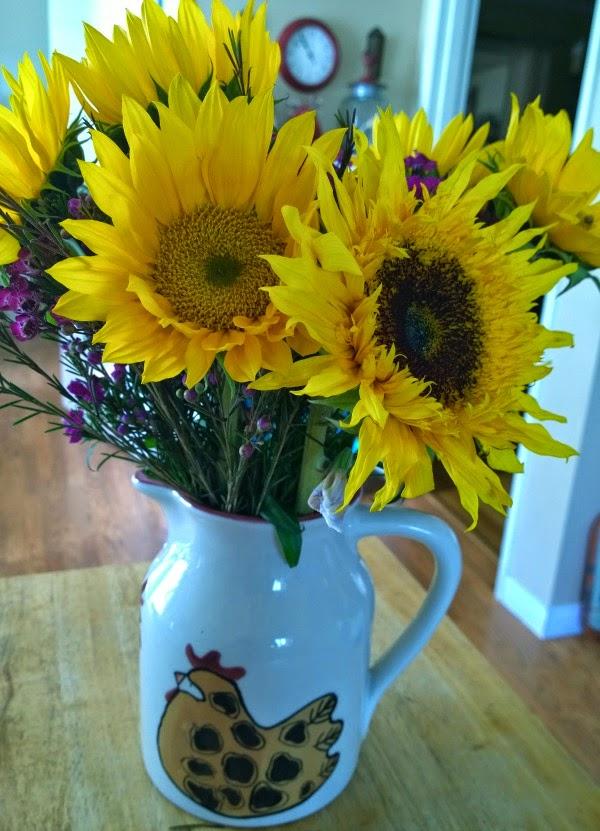kitchen sunflowers