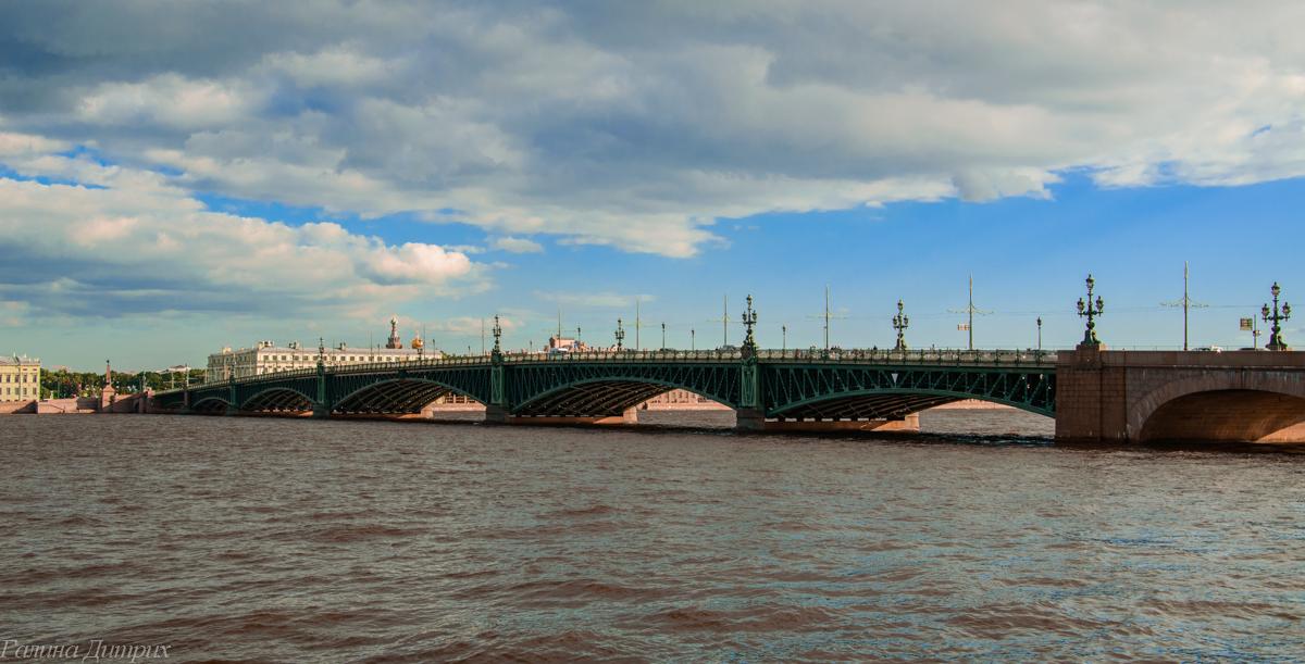 Троицкий мост Санкт-Петербург фото