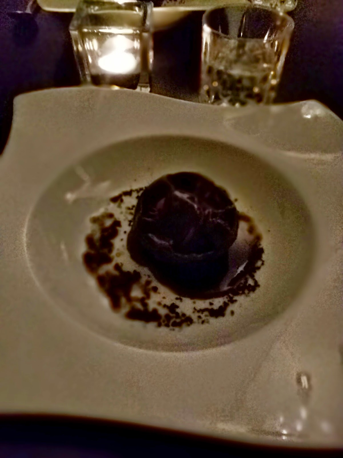 Chocolate sphere dessert at Tavern in the Dylan Hotel in Dublin