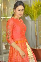 Simrat in Orange Anarkali Dress 24.JPG