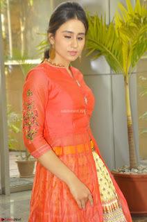 Simrat in Orange Anarkali Dress 24.JPG