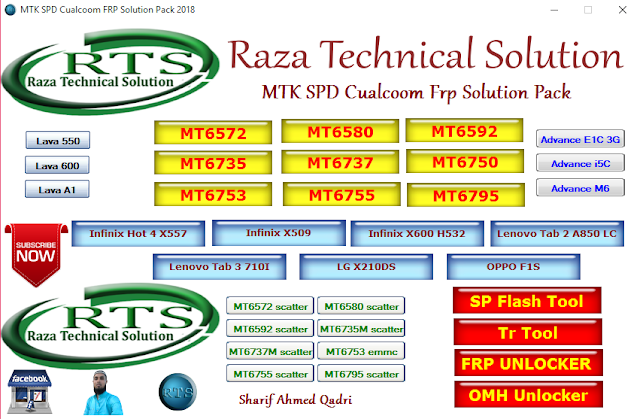 MTK SPD Cualcoom FRP Solution Pack 2018