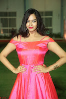 Actress Pujita Ponnada in beautiful red dress at Darshakudu music launch ~ Celebrities Galleries 005.JPG