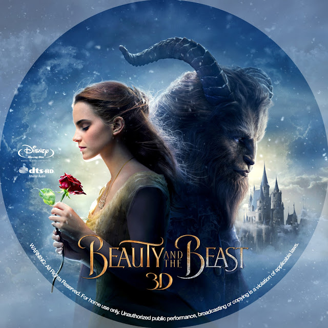 Beauty and the Beast 3D Bluray Label
