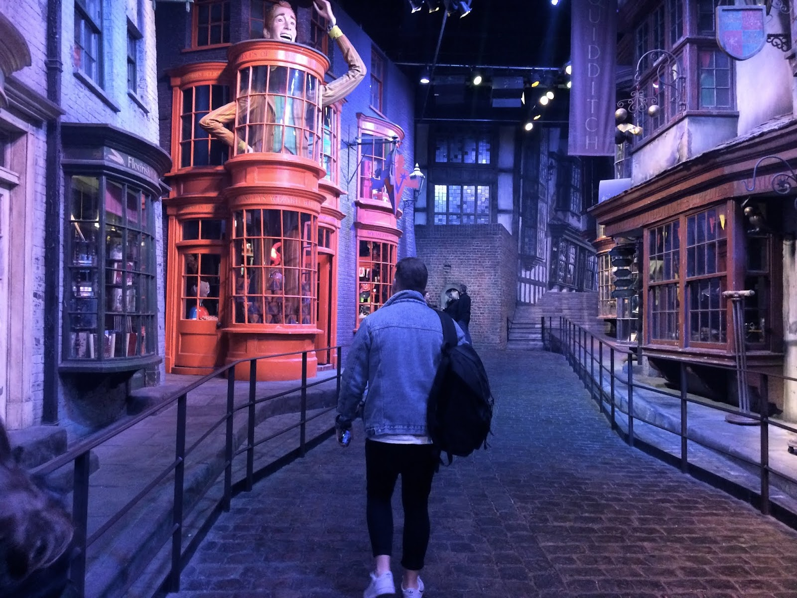 Walking through the set of Diagon Alley