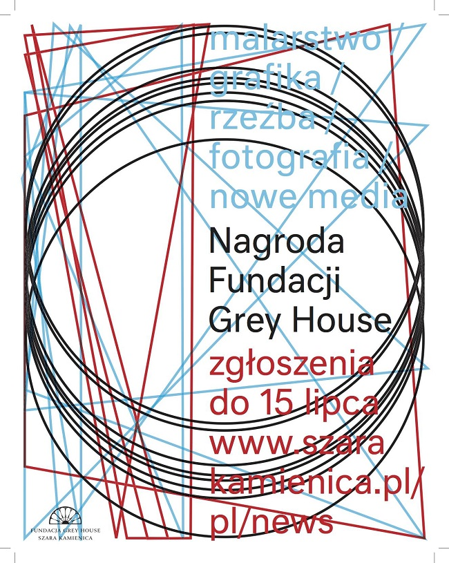 Plakat reklamujący Nagrodę Fundacji Grey House