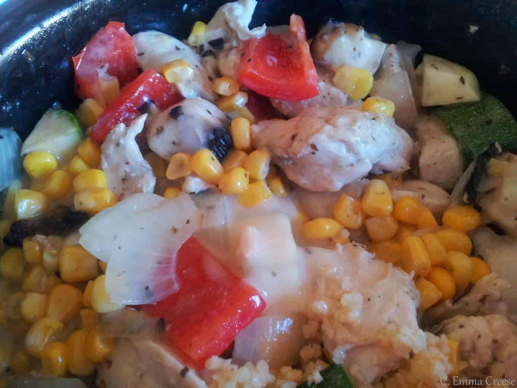 Chicken Mushroom Courgette Pepper Sweetcorn