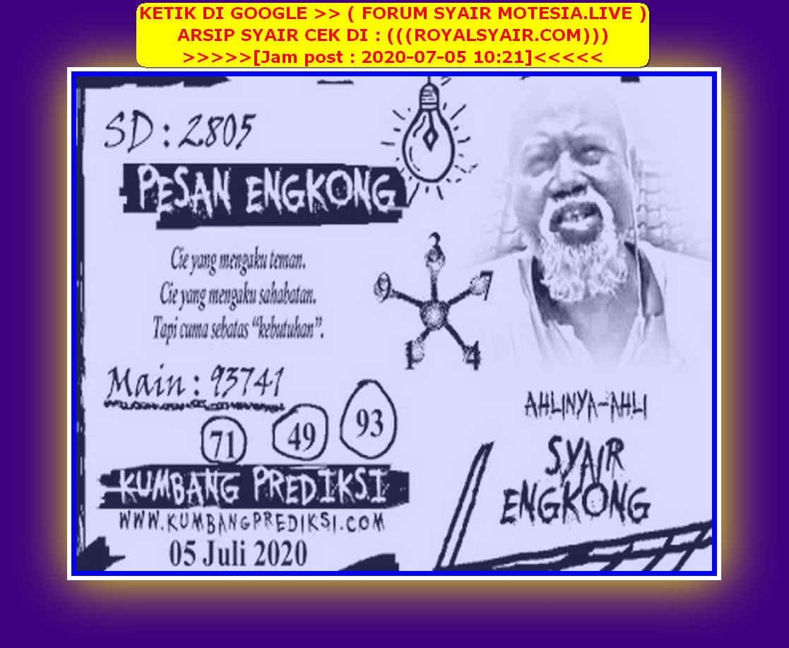 Kode syair Sydney Minggu 5 Juli 2020 173