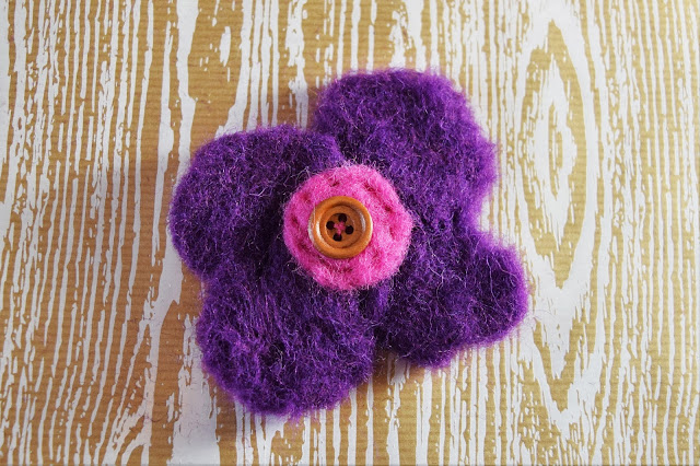 Felting Flower Brooch