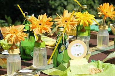 décoration florale pour bapteme
