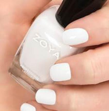 For a bold white try: Zoya Purity