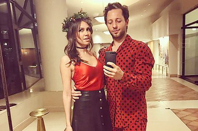 Time for fun: Dasha Zhukova and Derek Blasberg in funny outfits at a party in new York