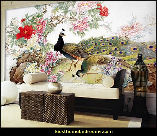 Peacock theme decorating - peacock theme decor - exotic style decorating - Peacock Decorations - Peacock Nursery