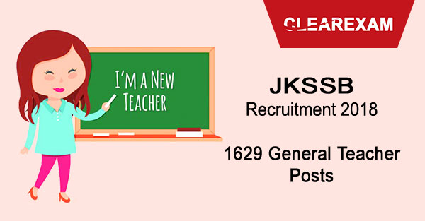 JKSSB General Teacher Recruitment Notification