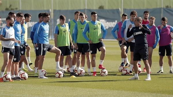 Málaga, hoy entrenamiento y rueda de prensa de Muñiz