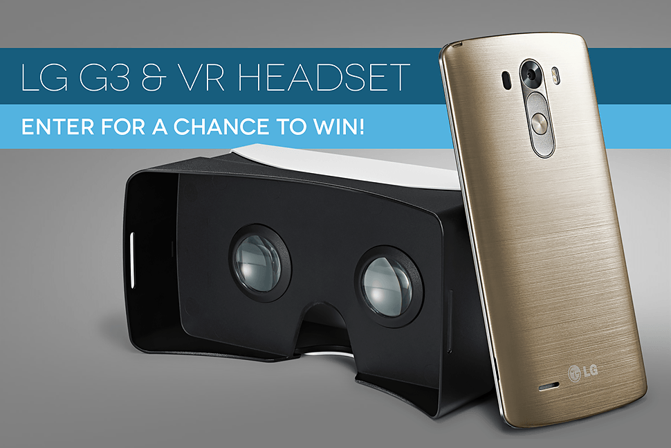 Sprint LG G3 phone (with VR for G3 headset) Giveaway