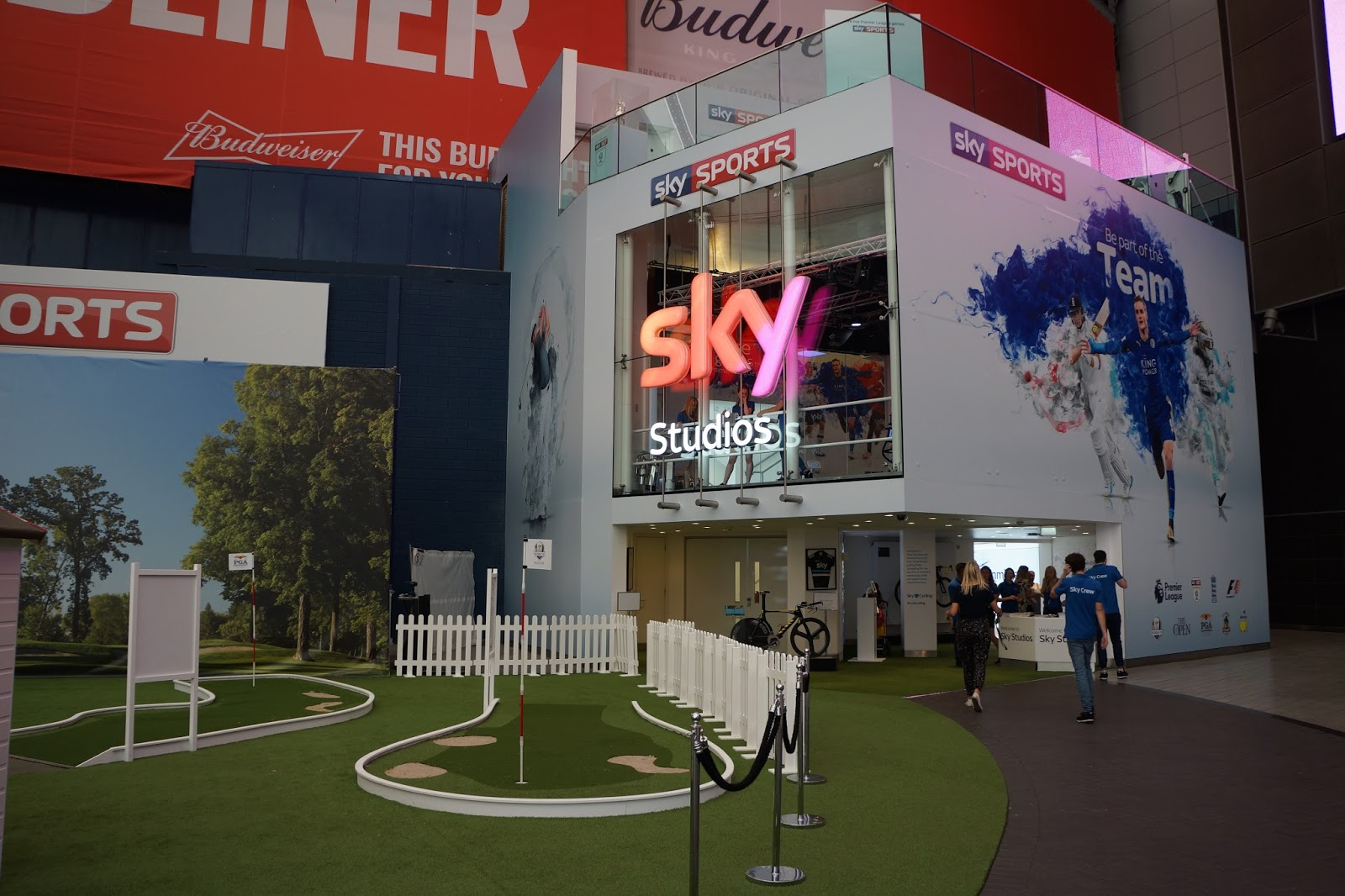 the sky studios entrance at the o2