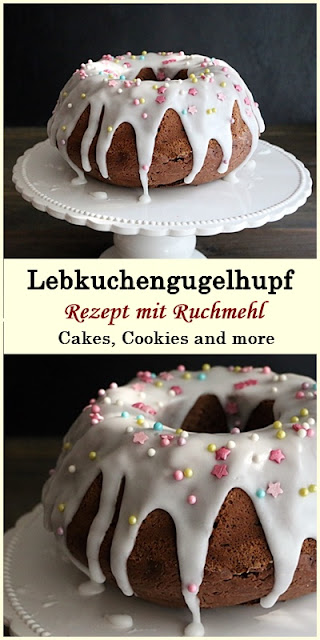 Rezept für Lebkuchengugehlhupf mit Ruchmehl und Vollrohrzuker