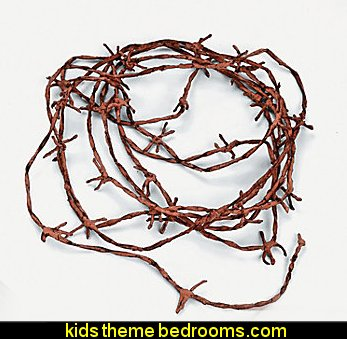 Rusty Barbwire Cord  cowboy theme bedrooms - rustic western style decorating ideas - rustic decor - cowboy decor - Cowboy Bedding Western bedroom decor - horse decor - cowboy wall murals horse wall murals