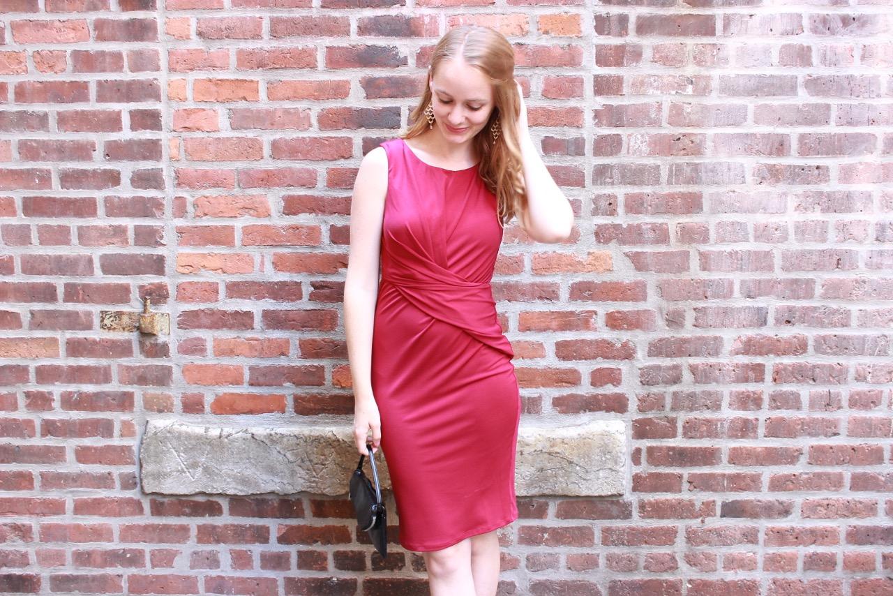 Shake the Tree Boston: Red Velvet Fall Dress