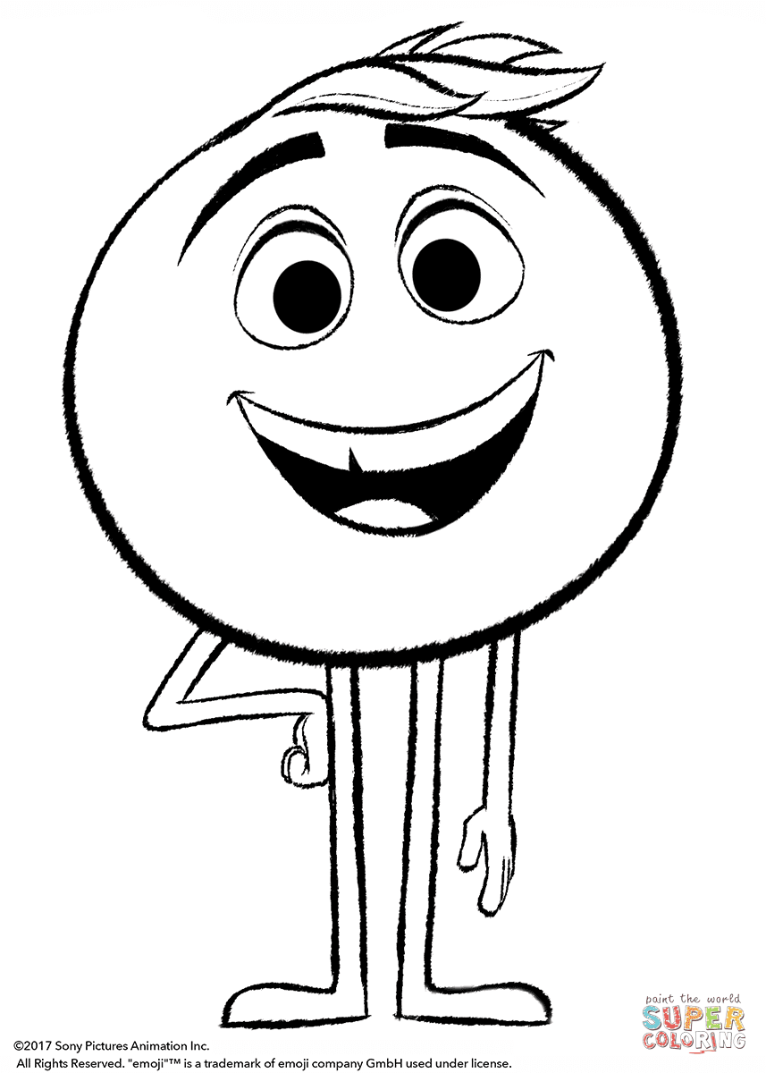 One Line Art Smiley : Aprende brincando colorir personagens do filme emoji