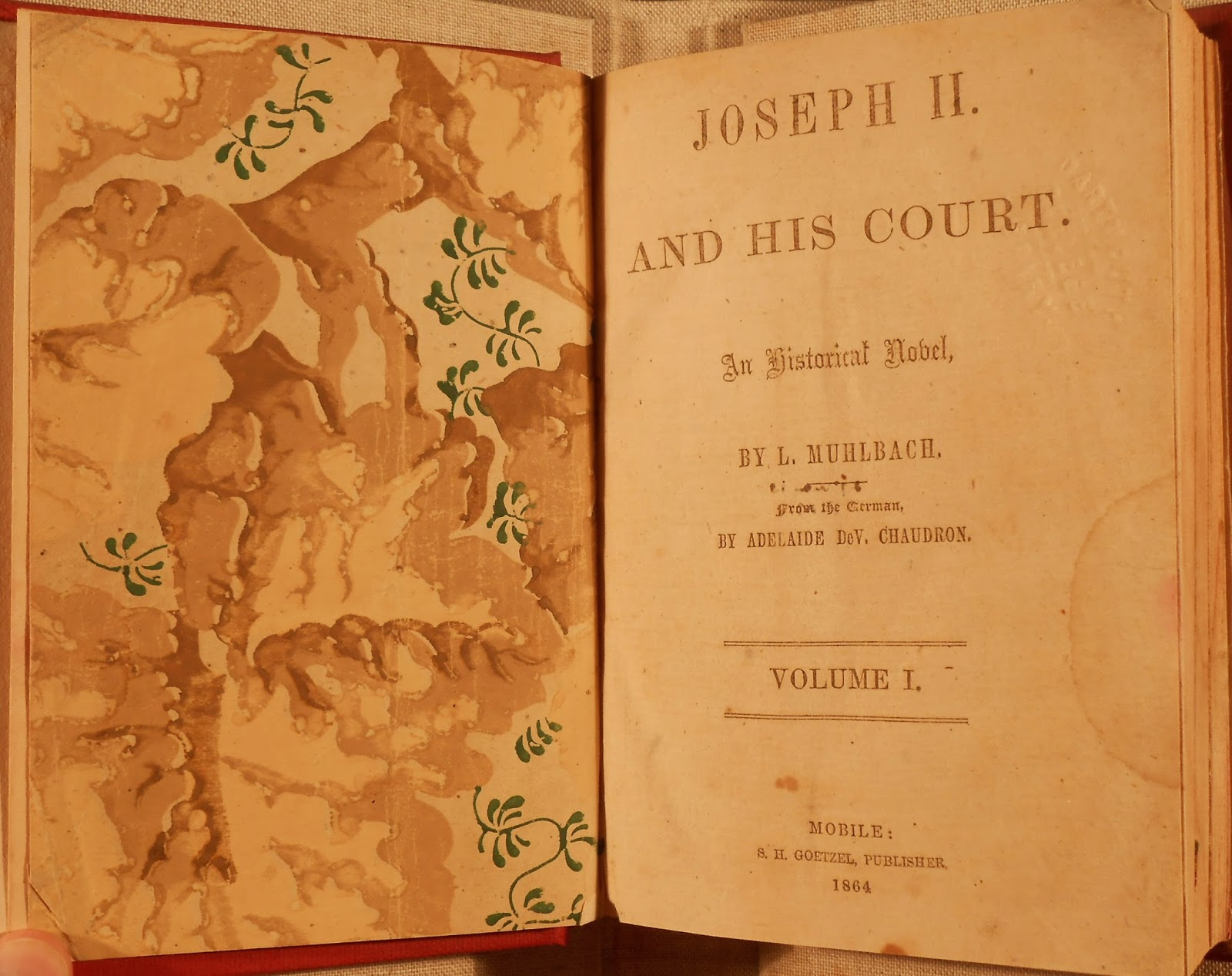 "The title page for ""Joseph II And His Court."""